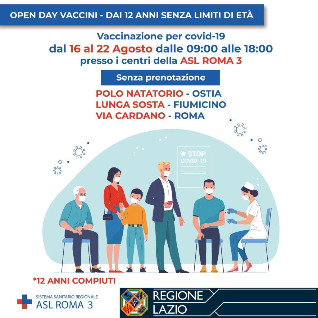 Asl Roma 3, open week vaccini dal 16 agosto. Ecco come e dove 1