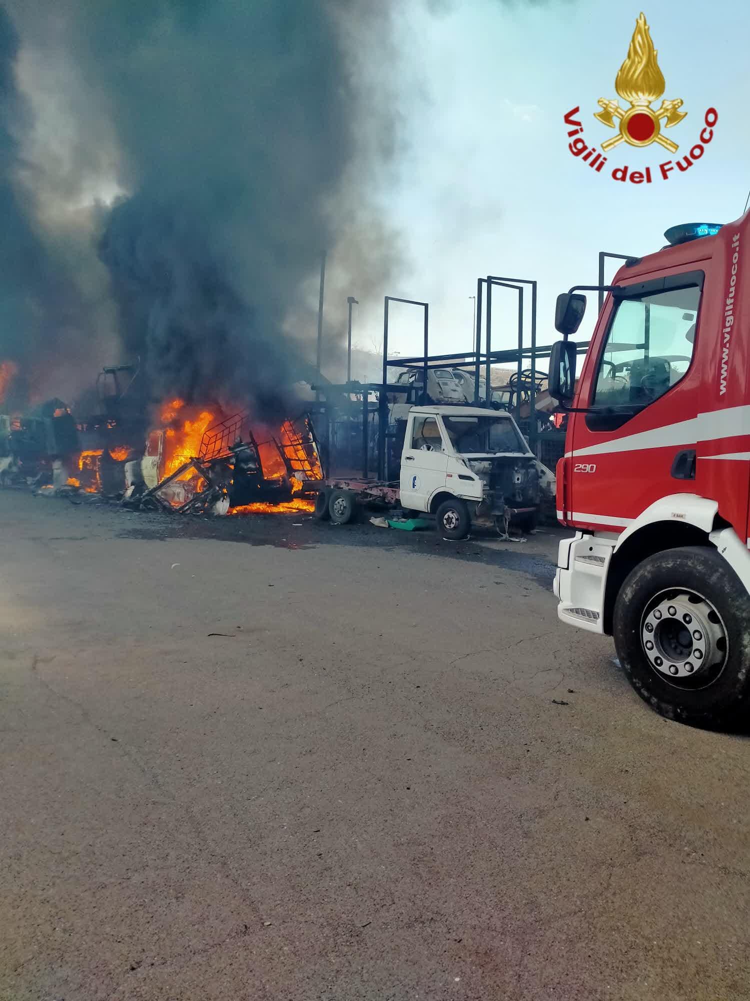 fuoco ostiense autodemolitore