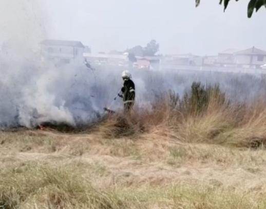 incendio fiumicino intervento