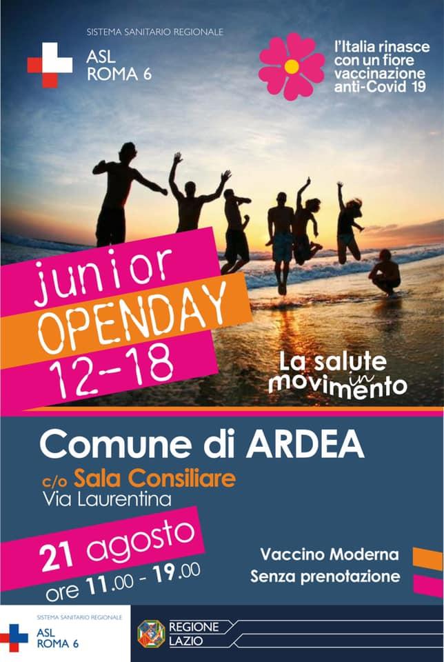 Ardea: tra gli Open day di agosto il primo dedicato alla fascia junior 2