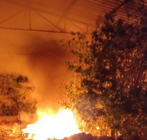 Acilia, incendio in un capannone abbandonato 1