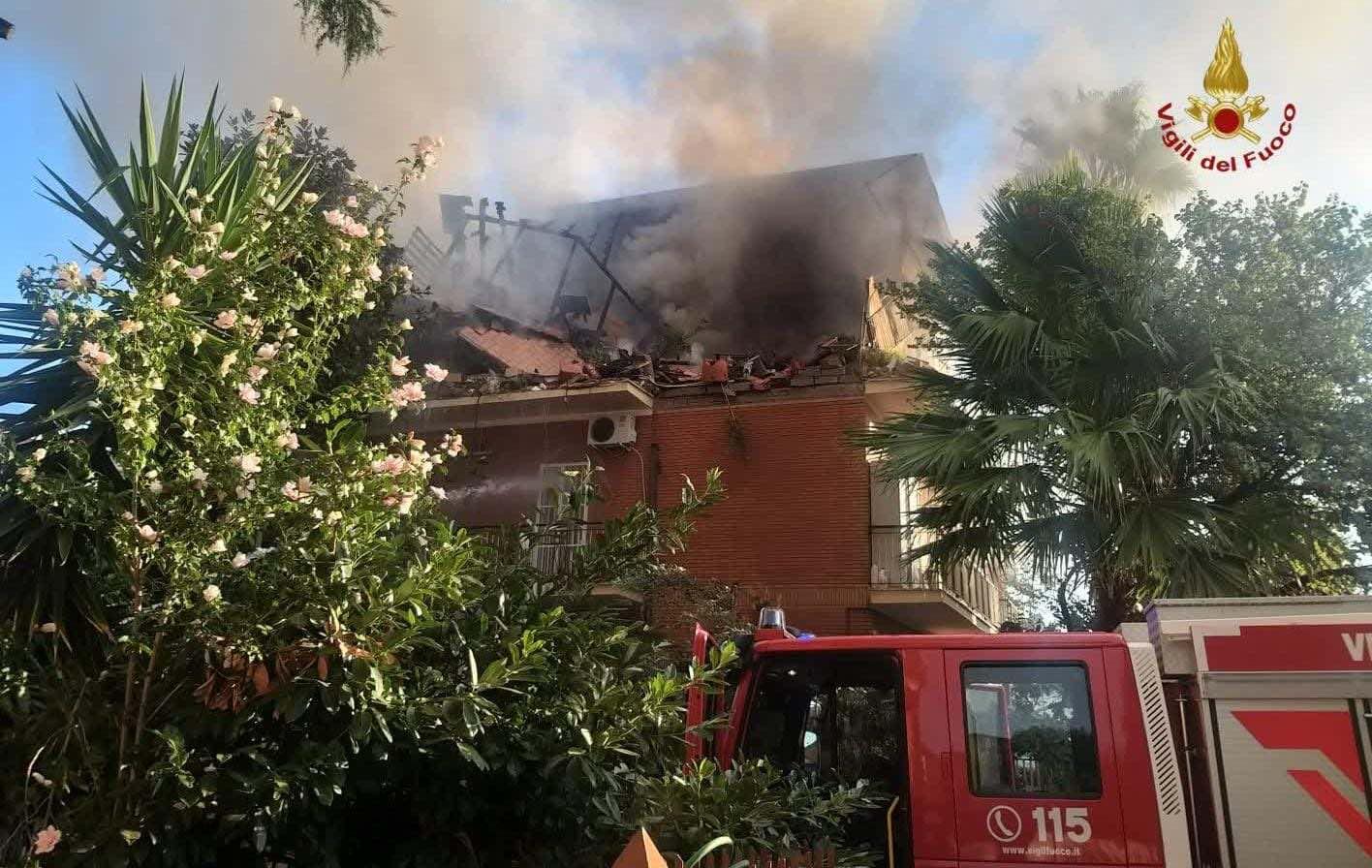 Roma: un'esplosione provoca il crollo di una palazzina. Si cercano i dispersi 1