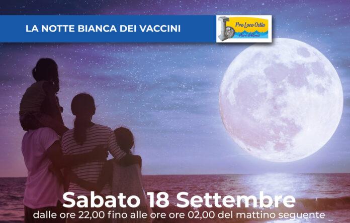 notte bianca vaccini asl roma tre