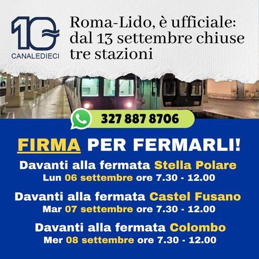 roma lido raccolta firme