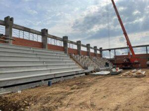 Ladispoli: ecco le gradinate del nuovo Palazzetto dello Sport 1