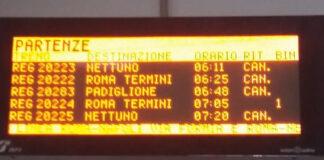 treni interrotti latina nettuno